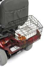 Wire basket with hinged lid to fit on the rear of scooter buggies