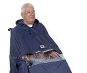Weatherproof clothing for mobility scooters and invalid buggies