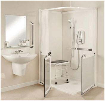 All in one shower enclosures with half height doors